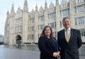 SNP Deputy Group Leader Jackie Dunbar and new SNP Group Leader Alex Nicholl outside Marischal College, Aberdeen. Picture by Darrell Benns