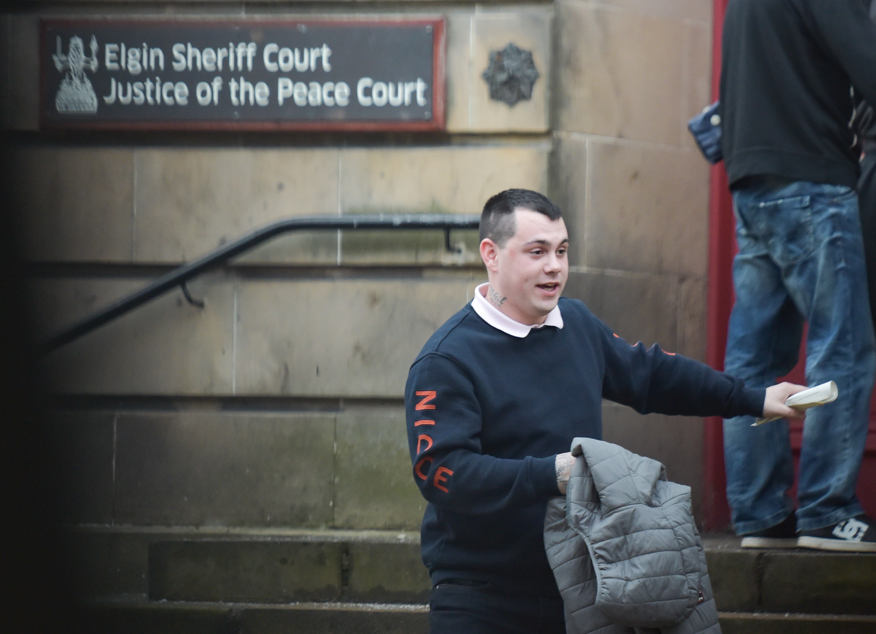 Liam Forsyth at Elgin Sheriff Court.