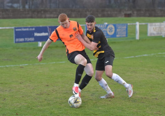 Tom Kelly (right) is on loan at Brora Rangers from Ross County.