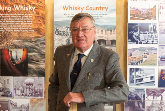 Retired whisky worker Bill Morgan pictured at Speyside Visitor Centre. Picture by Jason Hedges