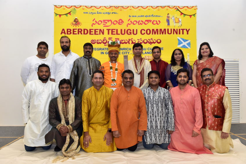 The Aberdeen Telugu community group.  Picture by KENNY ELRICK