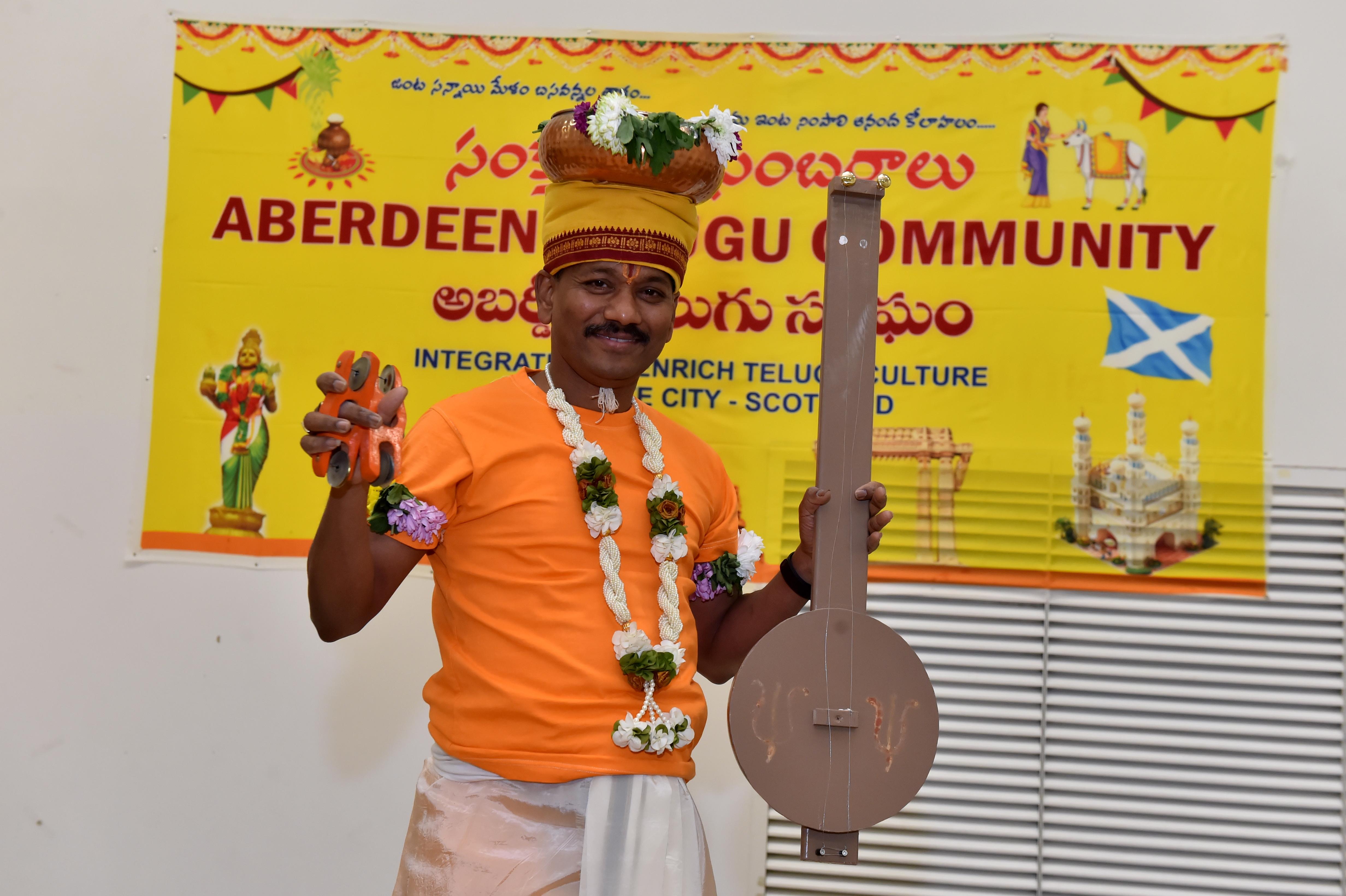 Veeranjaneyulu Koppolu performing as Haridasu.  Picture by KENNY ELRICK