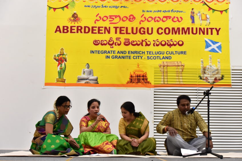 Hundreds of people celebrated Sankranthi, a south Indian traditional festival at Heathryburn School, Aberdeen.   Picture by KENNY ELRICK