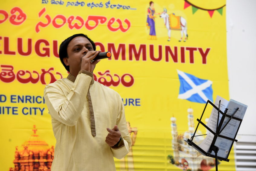 Performer Mithilesh Veddiparthi.  Picture by KENNY ELRICK