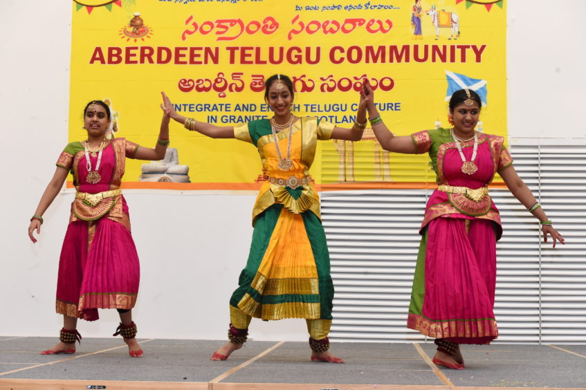 Dancers performing the Bharata Natyam dance.  Picture by KENNY ELRICK