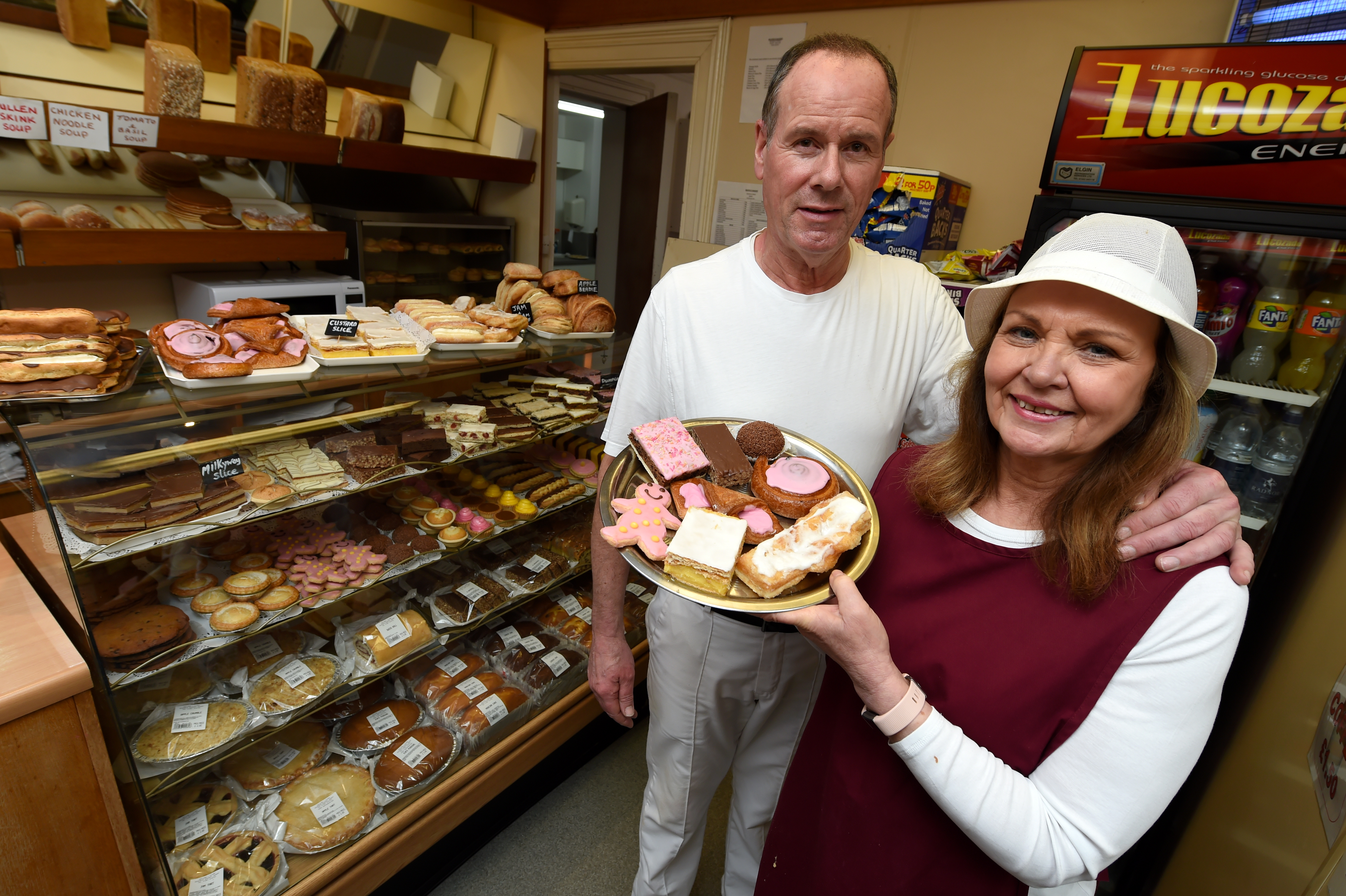 Owners Duncan and Audrey Clark are putting the Seafield Bakery up for sale.  Picture by Kenny Elrick.