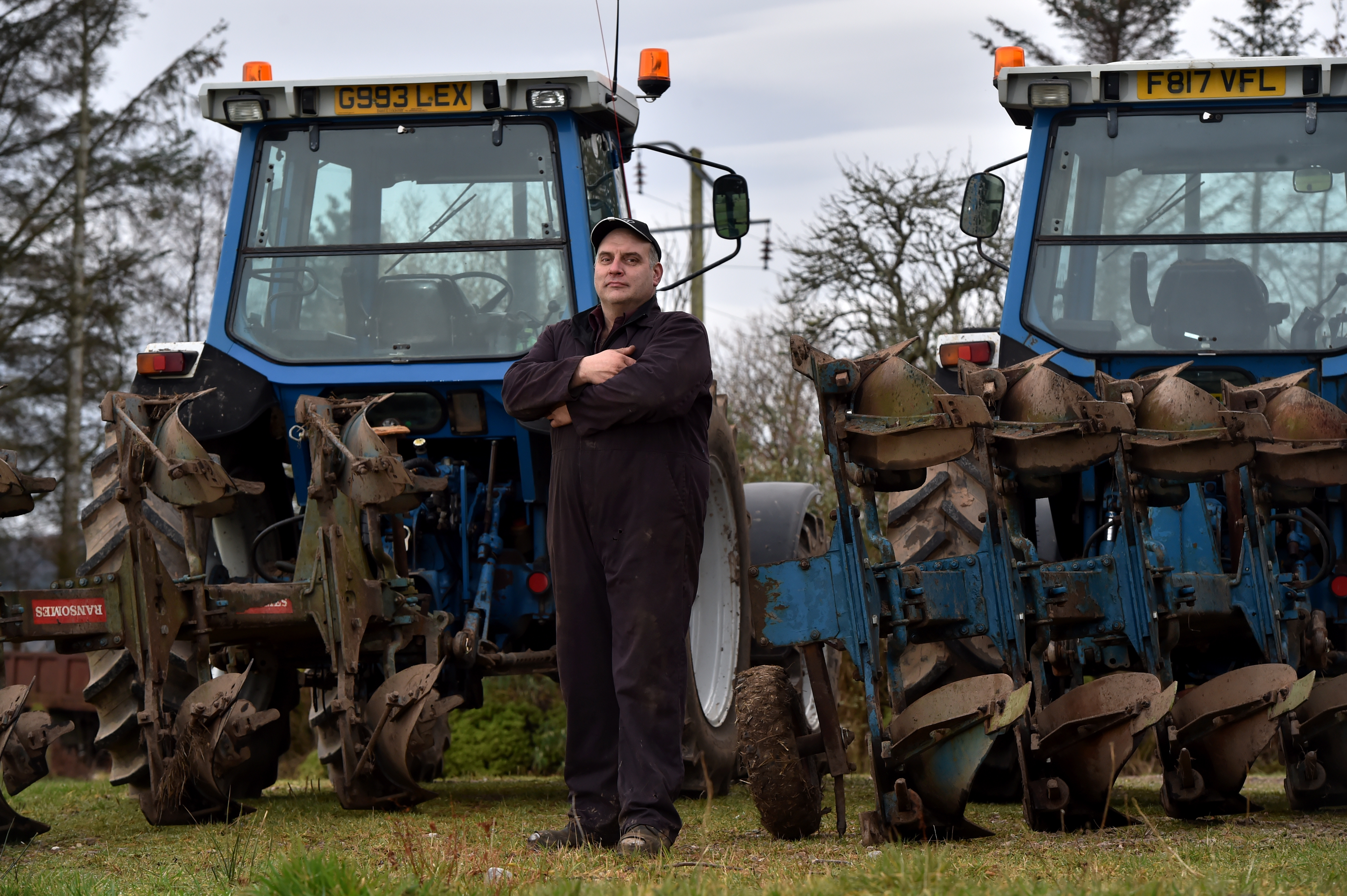 Ian McDonald has organised a 24 hour charity ploughing challenge to raise money for cancer research.  Picture by Kenny Elrick.