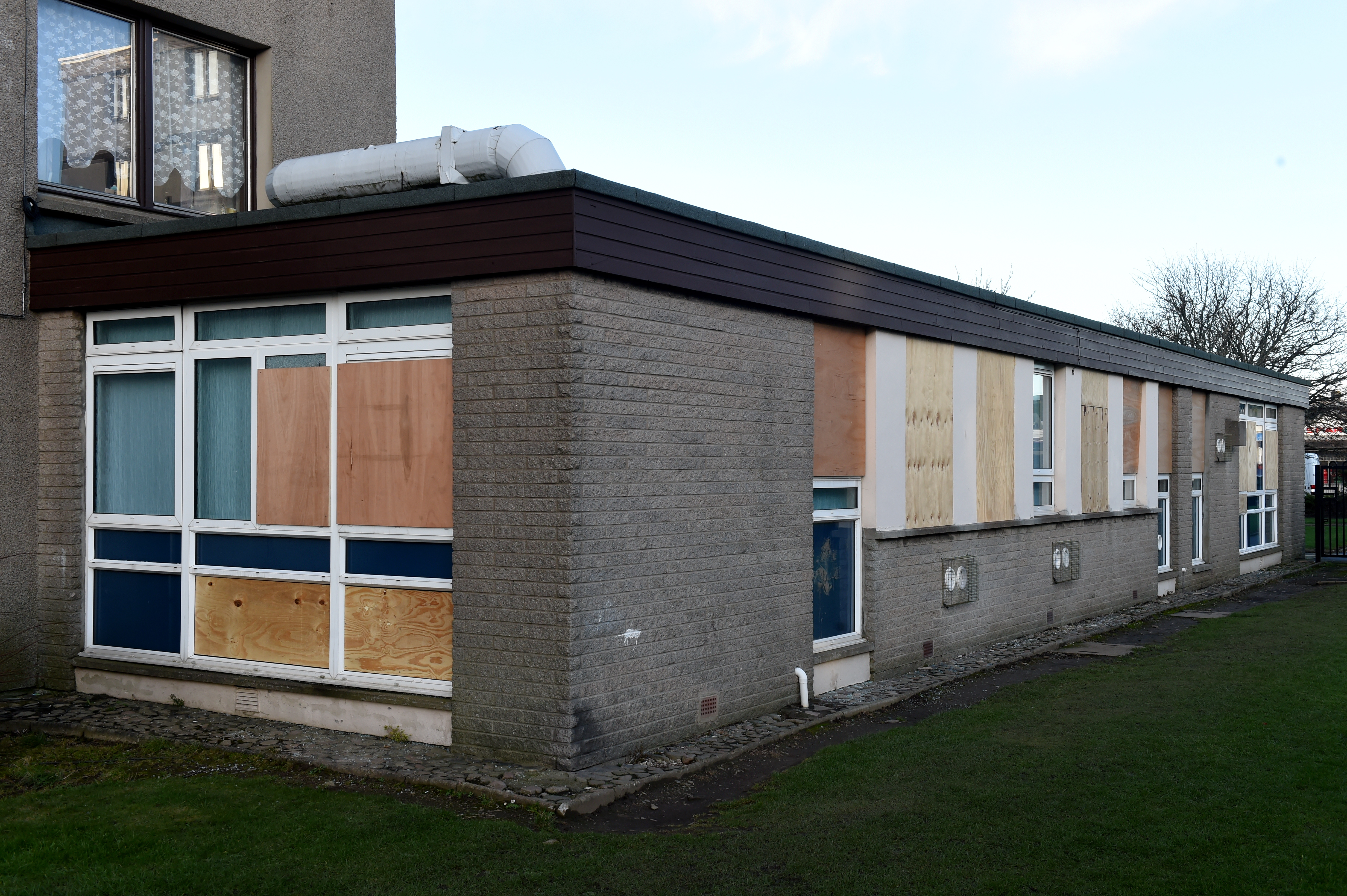Locator of Kincorth Medical Centre, that was vandalised and had 18 windows broken.   Picture by KENNY ELRICK     28/01/2020