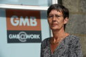GMB Union organiser Melanie Greenhalgh.  Picture by KENNY ELRICK.