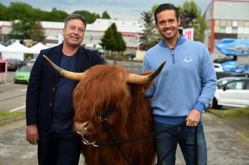 Picture of (L-R) John Torode and Spencer Matthews.  Picture by KENNY ELRICK