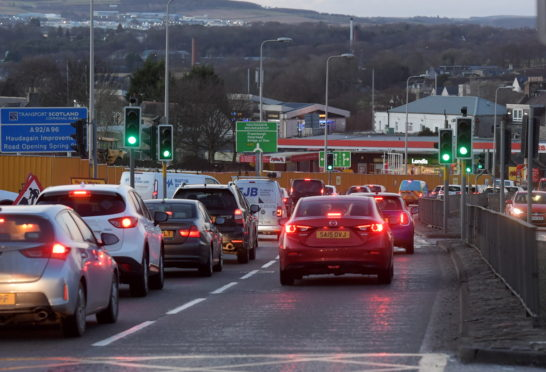 Traffic on North Anderson Drive, heading towards Haudigain Roundabout.    Picture by Kath Flannery.