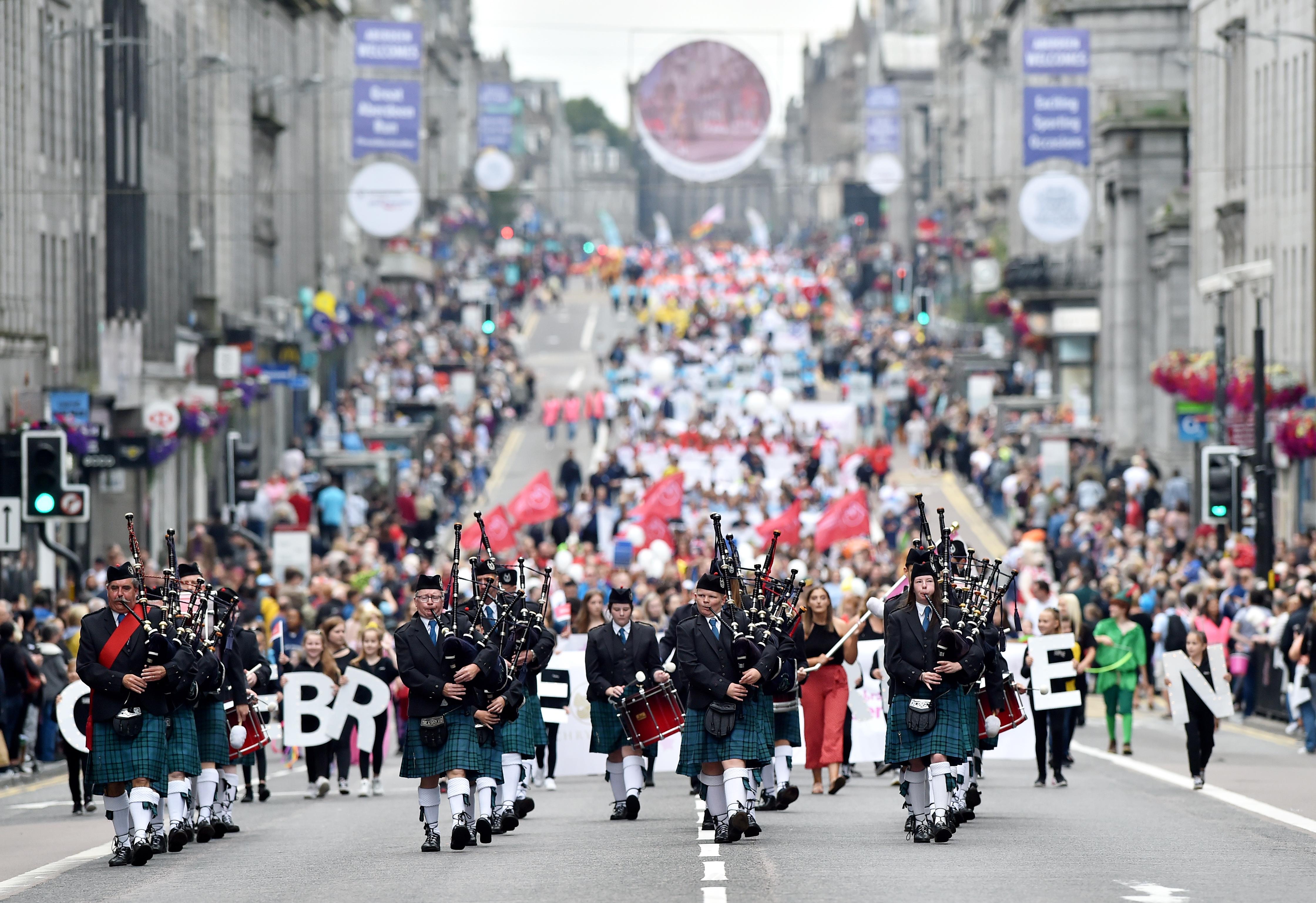 Celebrate Aberdeen parade. Picture by Scott Baxter