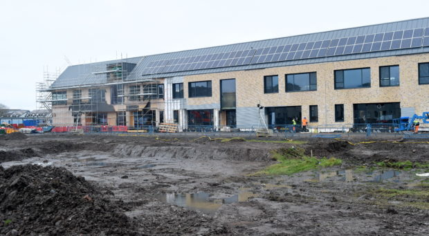 The new Merkinch Primary School takes shape.
