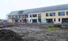 The new Merkinch Primary School during construction.