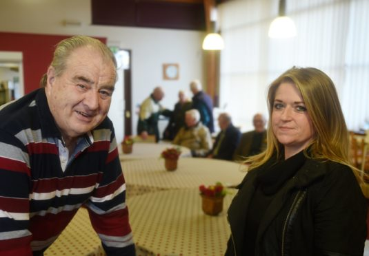 Alan Michael with Nadine Morrison who is taking over as the scheme's co-ordinator. Picture by Sandy McCook