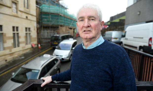 """Duncan Fraser of Inverness Taxi Alliance fears other ranks will become """"volatile"""" following the relocation from the Castle Wynd rank. Picture by Sandy McCook"""