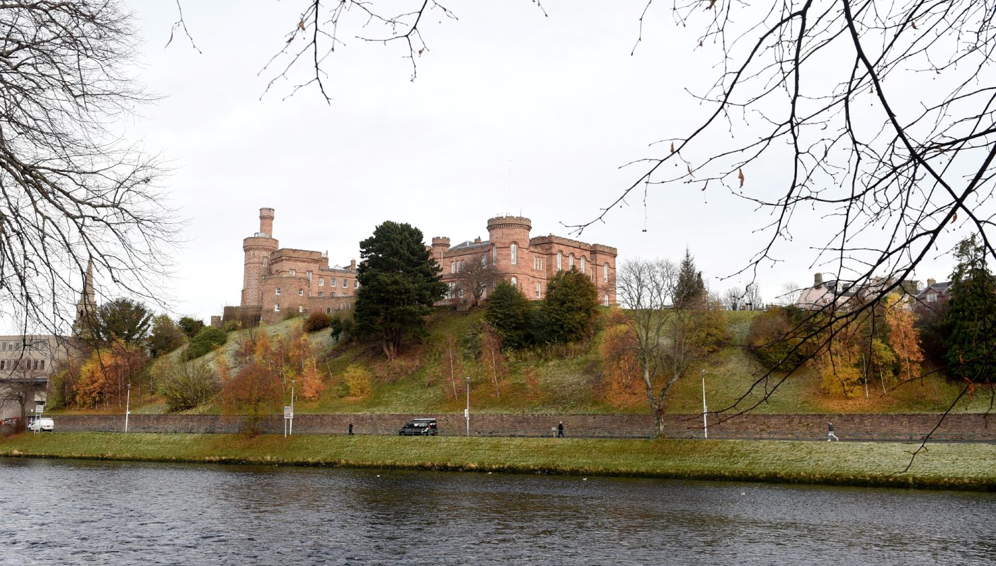 River Ness with Inverness Castle. Picture by Sandy McCook
