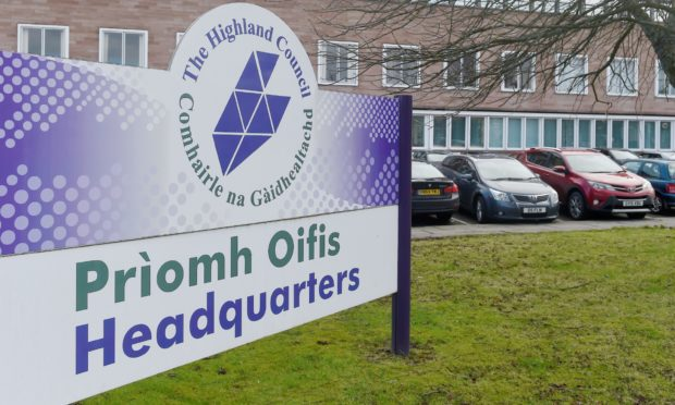 Highland Council's Inverness HQ.