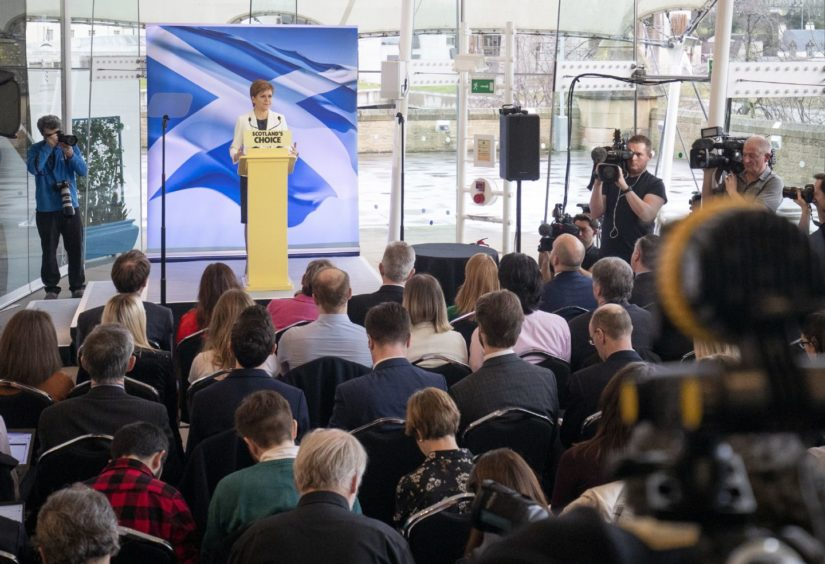 First Minister Nicola Sturgeon speaking during an event at the Ozone, Our Dynamic Earth, in Edinburgh to outline Scottish independence plans on the day the UK left the European Union.