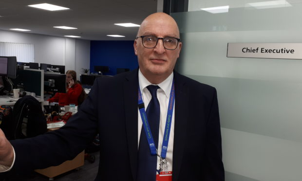 Paul Hawkins, interim chief executive of NHS Highland. Picture by Susy Macaulay