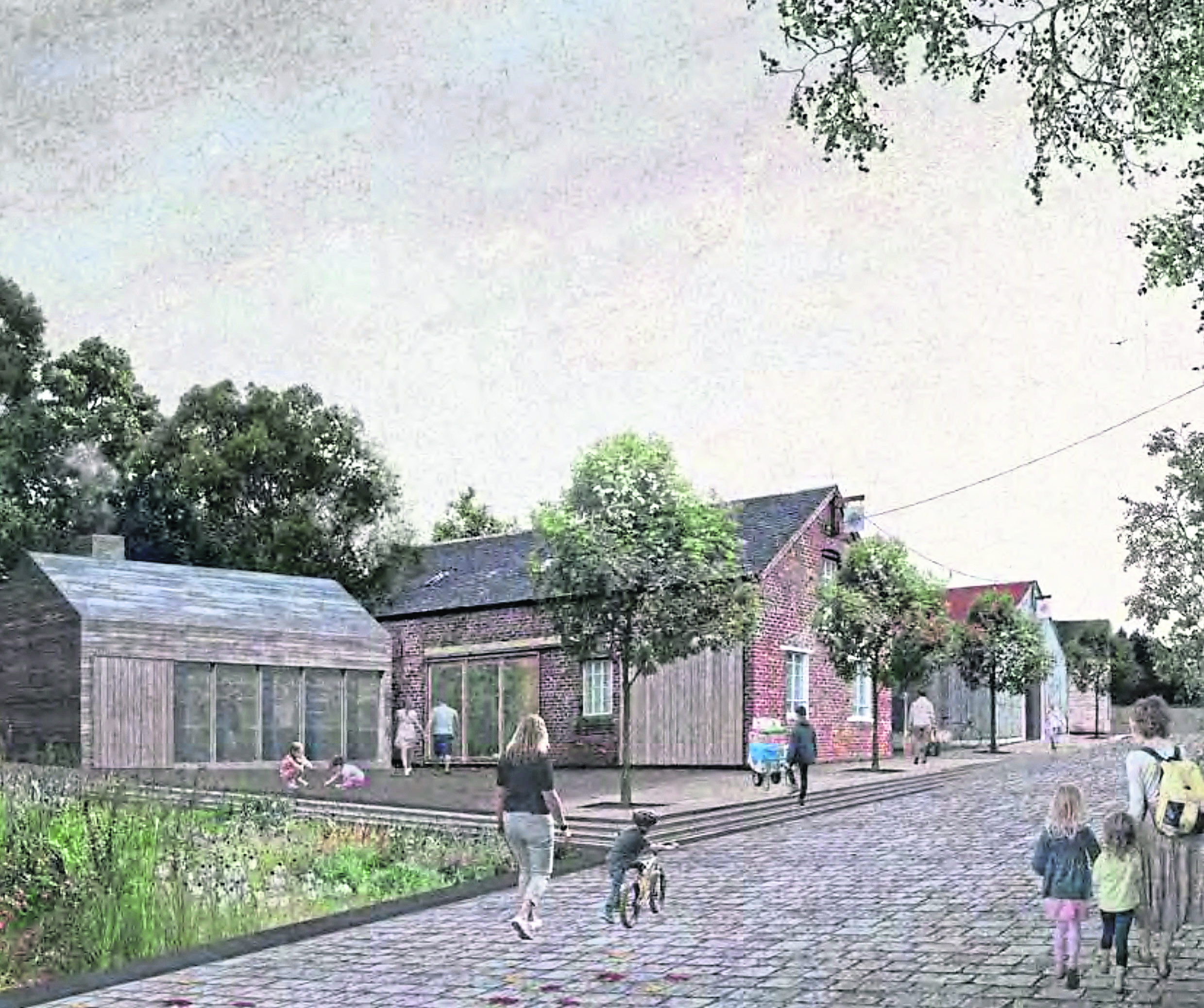 Designs of Burr's Stores redevelopment.