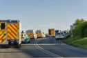 The scene of the incident on the A98 at Cullen.