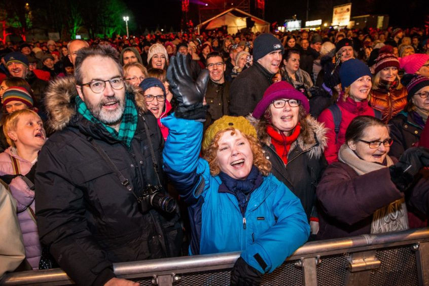 Inverness brings in the New Year with its' Red Hot Highland Fling.