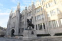 The statue of King Robert the Bruce outside Marischal College.