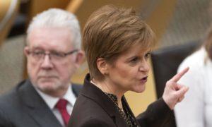 First Minister Nicola Sturgeon during a Holyrood debate on 'Scotland's Future'.