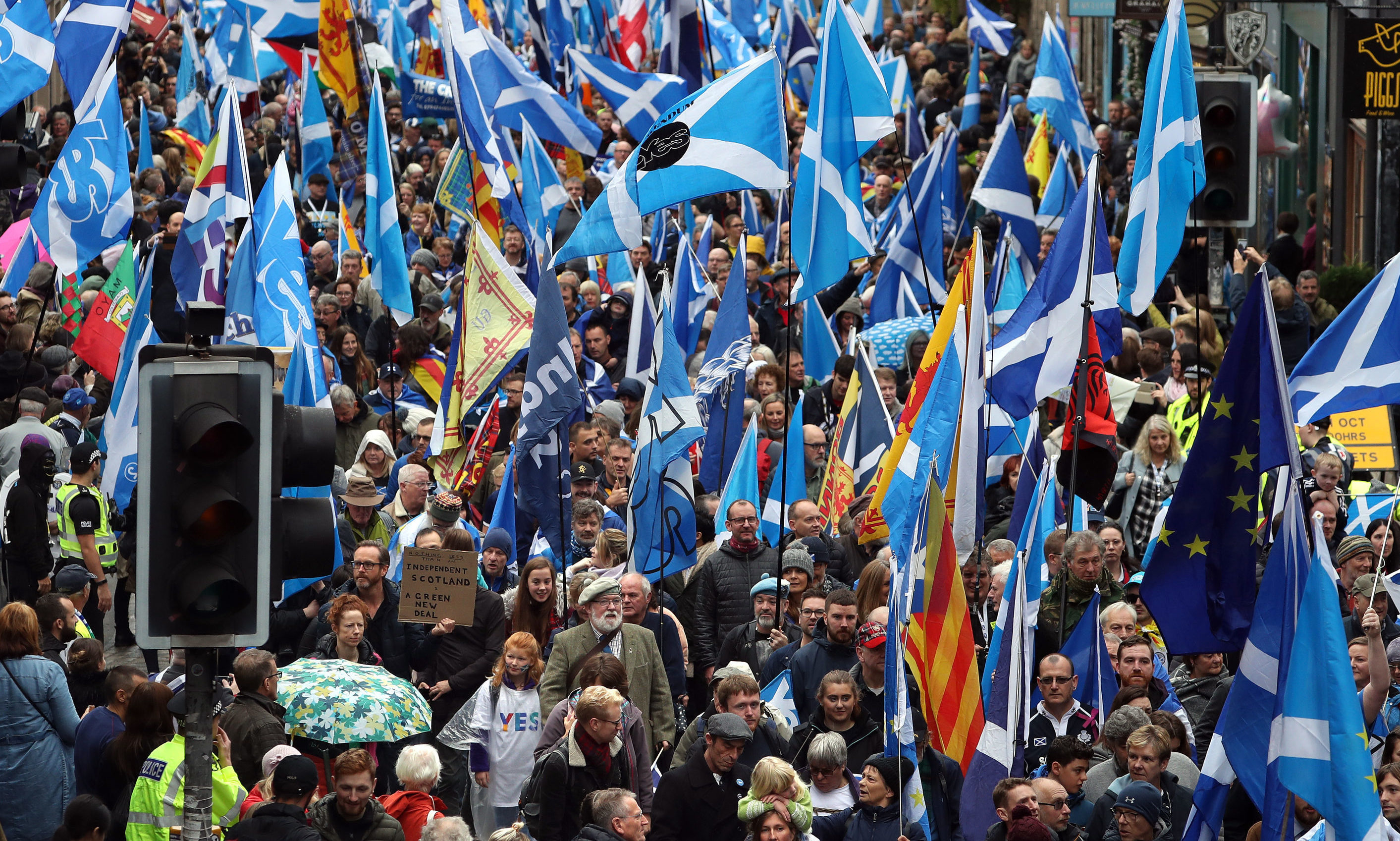 A march by supporters of Scottish independence.