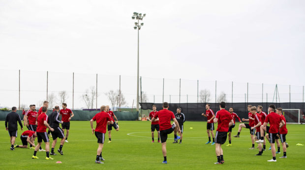 The Dons have been training in Dubai for the last five days.