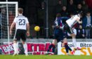 Ayr's Steven Bell makes it 1-0 during the William Hill Scottish Cup 4th round tie between Ayr United and Ross County