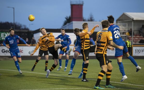 Inverness' Jordan White scores to make it 2-1 during the William Hill Scottish Cup fourth round match between Alloa Athletic and Inverness Caledonian Thistle at the Indodrill Stadium.