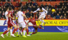 Motherwell's Liam Donnelly put his side ahead at Pittodrie