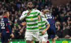 Odsonne Edouard celebrates netting for Celtic.