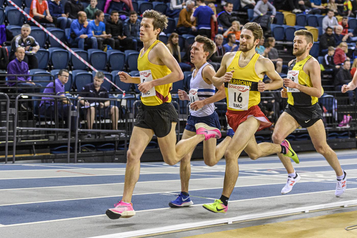 Stephen Mackay, left, runs in Glasgow.