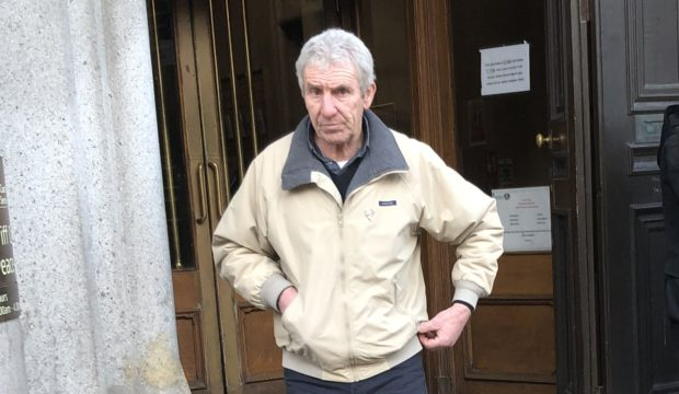 Stephen Reid leaving Aberdeen Sheriff Court.