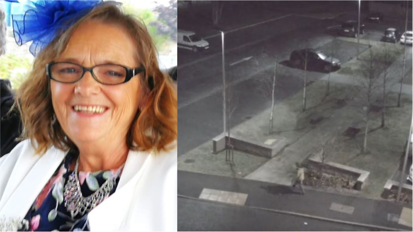 Yvonne Cumming, left, and the last sighting of her right