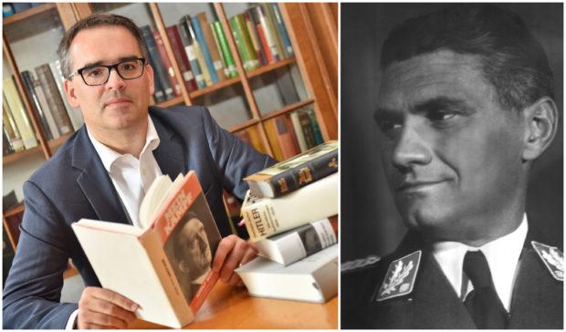 Professor Thomas Weber from Aberdeen University (left) and Fritz Wiedemann
