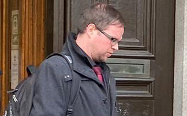 John Cameron pictured leaving court.