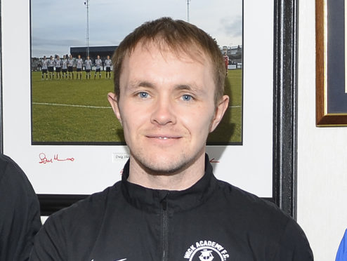 Wick Academy player Richard Macadie.