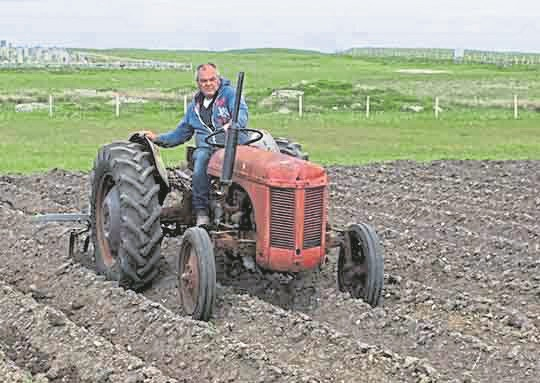 Allan MacCallum, 46, had been inspecting a new baling machine which was an attachment for his tractor when tragedy struck.