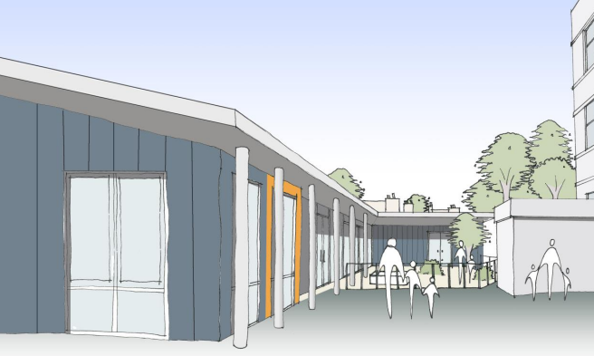 An artist's impression of the nursery proposed at Broomhill Primary.