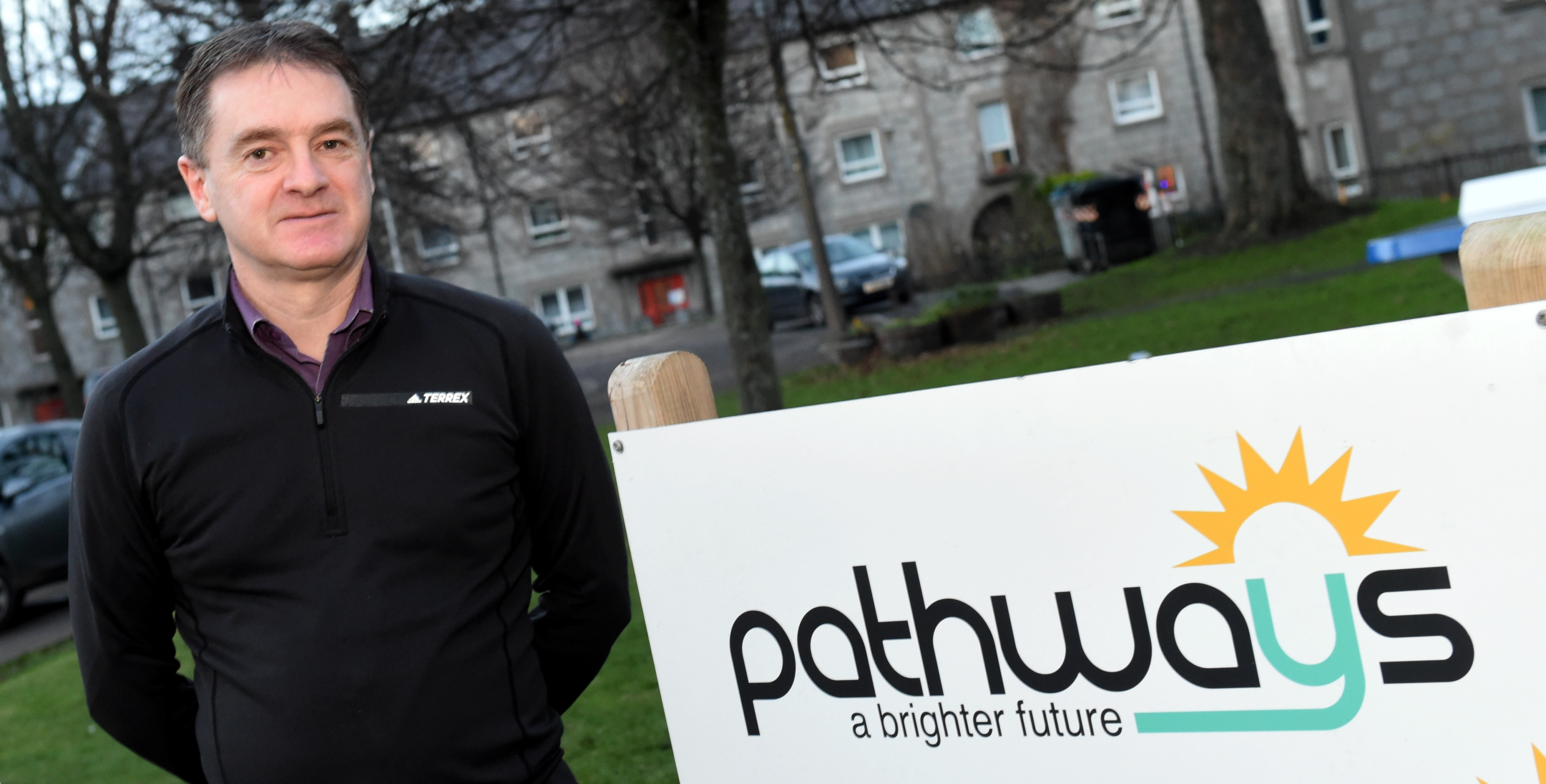 Malcolm Pritchard, Pathways, Powis Place, Aberdeen. Picture by Jim Irvine