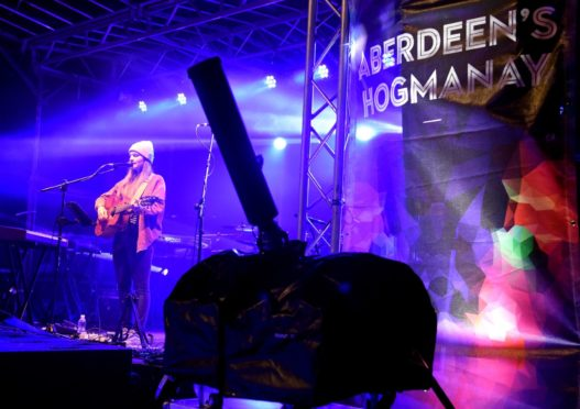 Hogmanay celebrations at Schoolhill, Aberdeen. In the picture is Charlotte Holden.  Picture by Jim Irvine