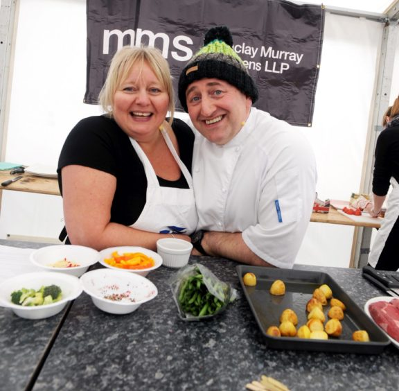 Chefs, Donna Knight and Sandy Greig.  Pic by Chris Sumner