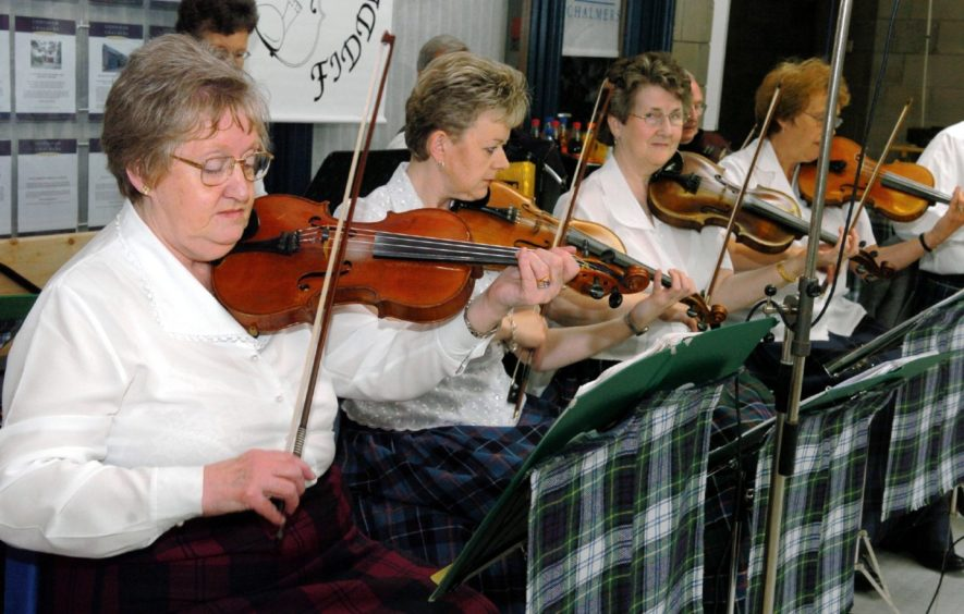 Garioch Fiddlers entertain the crowd