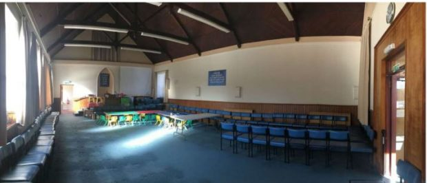 The existing hall, picture submitted in planning documents to the council