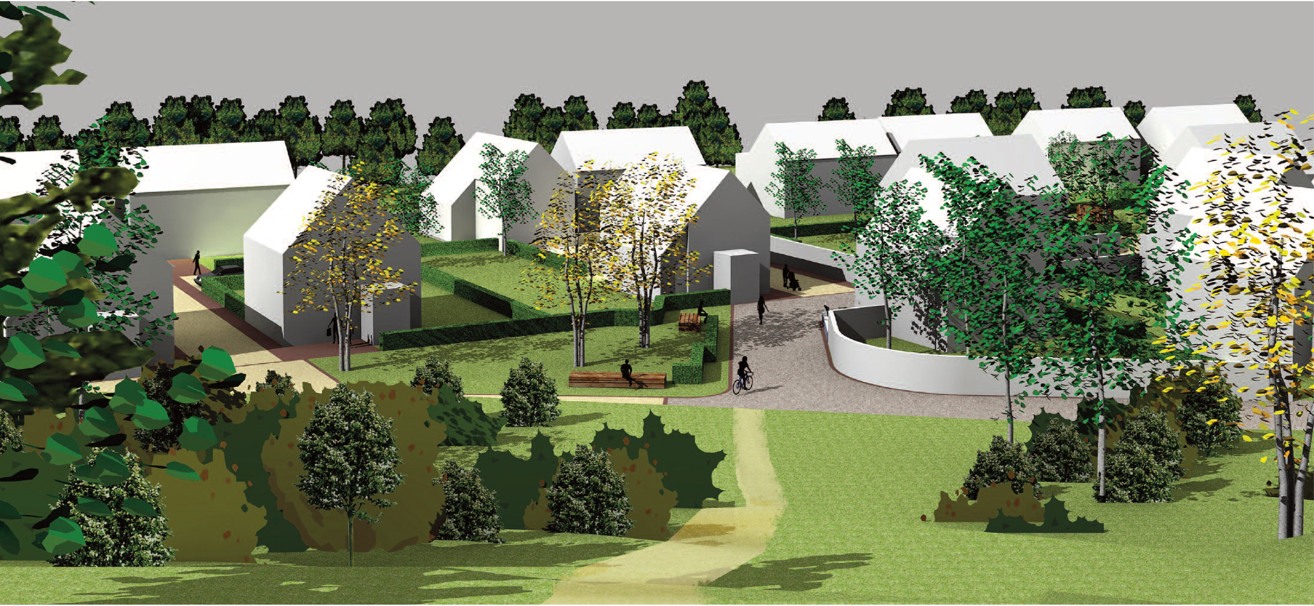 Artist impression of the Ferrylea development in Forres.