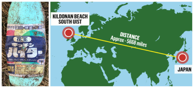 The bottle was found more than 5,500 miles away from where it was made